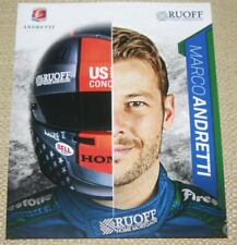 2018 Marco Andretti Ruoff Mortgage Honda Dallara Indy Car postcard
