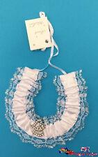 Bridal Charm White Lace Horseshoe Wedding Horse Shoe w/ Gem Love Shape BBH07