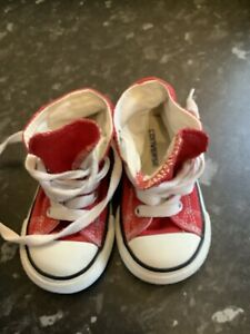 Infant High Top All Stars Converse Boots Red Size 5
