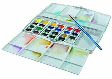 Winsor and Newton Cotman Watercolours Painting Plus - 24 Half Pans Water Colour