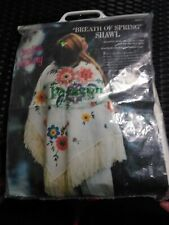 "Vintage Paragon Creative Stitchery Shawl ""Breath Of Spring"" 0410"