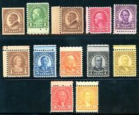 USAstamps Unused VF US Complete Perf 11x10.5 Rotary Sctt 631- 632-642 OG MNH