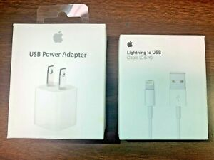 Genuine Apple 5W Power Adapter and 0.5m Lightning to USB Charging Cable Cord GA