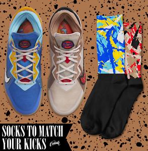 SPLATTER Socks for Space Jam New Legacy LeBron 18 Low Wile E. x Roadrunner Shirt