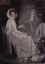 c1815 PRINT LADY HAMILTON by GEORGE ROMNEY - WATER DAMAGED
