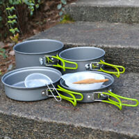 Portable Camping Cookware Sets Cooking Pot Outdoor Picnic Bowl For 4-5 Person