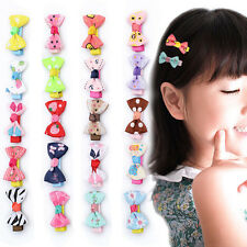 10pcs Baby Toddler Girl Hair Clips Ribbon Bow Kids Satin Bowknot Headband Newly