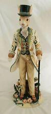 "Fitz & Floyd Dapper Rabbit 20"" Male Figurine Multi Colored Coat"