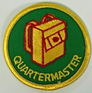 Quartermaster Boy Scouts Patch Badge Backpack Green Yellow Circa 1970s 1980s