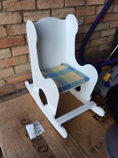 Vintage white wooden toddler rocking chair 99p start