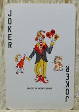 Joker Clown Boy Dog Single Swap Playing Card Vintage RCMP Canada