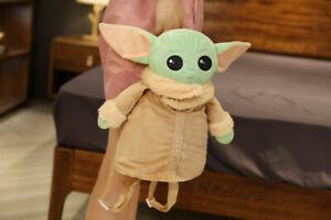 Baby Yoda Plush Backpack Toy Mandalorian School Bag Doll Girls Kids Gift UK