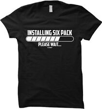 Installing Six Pack...Please Wait - Gym Workout Womens T-shirt