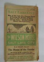 Antique The Wilson Hotel Salt Lake City Advertisement Travel Brochure Print 1926