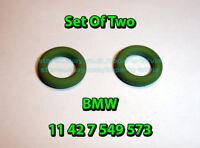 (two) BMW E36 E46 E39 E60 Engine Oil Filter Cover Gasket O-Ring Seal 11427549573