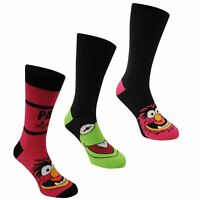 Disney The Muppets Crew Socks 3 Pack Mens Black/Multi Character Sock
