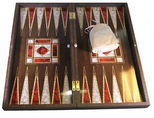 Backgammon TAVLA rot weis Würfel Gesellschaftsspiele Familienspiel leicht B-WARE