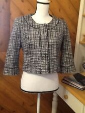 White House Black Market Cotton Woven Spandex Stretch lined Blazer / Jacket 6
