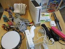 Nintendo Wii RVL-001 Lot Console Controllers Charge Port Games Skylander Extras