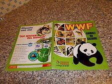 ALBUM WWF ANIMALI DA SALVARE PANINI OTTIMO COMPLETO+POSTER STICK STACK COMPLETO