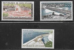 Ivory Coast (1959)  - Scott # C14 - C16,  MH