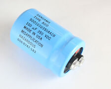 2x 100uF 350V Large Can Electrolytic Aluminum Capacitor 100MFD 350VDC 85C DC