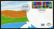 NEDERLAND E485 FDC 2003 - Land, lucht en water