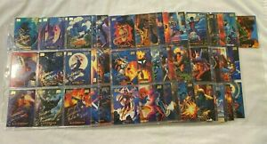 1994 Fleer Marvel Masterpieces GOLD SIGNATURE Parallel Chase Card Set of 140
