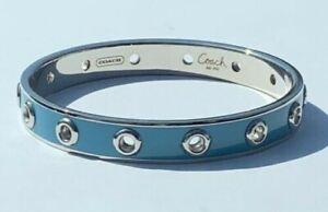 Coach | Grommet Blue Enamel Bracelet