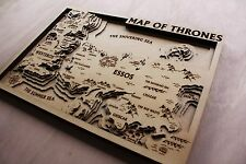 Game Of Thrones 3D Engraved Wooden Map
