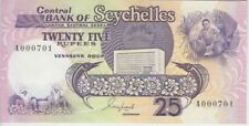 Seychelles Banknote P33 25 Rupees (1989) Low Serial Number, UNC