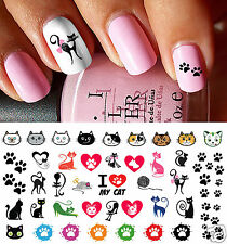 I love My Cat Paw Prints Nail Art Waterslide Decals - Salon Quality!