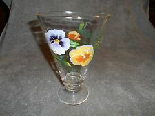 HAND PAINTED PANSY VASE