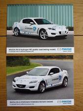 "MAZDA RX 8 HYDROGEN  PRESS PHOTOS 2 of,  ""brochure"" jm"