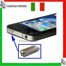 Tasto ACCENSIONE ON OFF Ricambio Apple IPHONE 4  4G ARGENTO CROMATO NUOVO