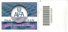 2013 francobollo Agenzia Italiana del Farmaco DX CODICE A BARRE 1539