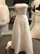 Michaelangelo Size 4 Strapless White Wedding Dress
