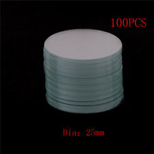 100Pcs Circular Round Microscope Slide Coverslip Cover Glass Diameter 25mmSC
