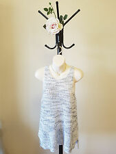 ✿♡ 'Miss Shop' Womens Singlet Sweater Top Size 12 (Grey Modern Minimal Chic) ♡✿