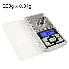 Mini Digital Pocket Weighing Scales 0.01 g to 200g Lab Gold Jewellery