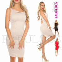 Sexy Sleeveless Knee-Length Pencil Dress Party Evening Summer Work Wear Size 8 S
