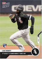 2020 MLB Topps Now LUIS ROBERT card #63 17th Hit in first 12 Games WHITE SOX RC