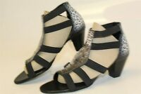 Icon NEW Womens 5.5 M Leopard Print Leather Strappy Sandals Heels Shoes