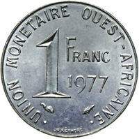 Französisch Westafrika - Münze - 1 Franc 1977