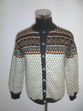 vintage Norweger Strickjacke island Jacke hippie boho style Wolle oldschool M