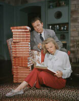 Married American Actors Dick Powell And June Allyson Reading A New OLD PHOTO