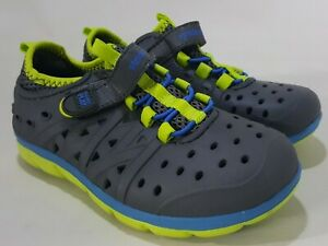 STRIDE RITE Made 2 Play Phibian  Water Shoes -Gray- Toddler Boys 10 (EUR 26)