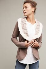 Anthropologie Bourgogne Wool Sweatercoat by Rosie Neira Size M NWT $158