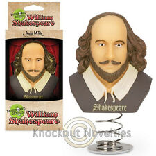 Dashboard Genius Shakespeare William Spring Vinyl Bust Head Fan Car Bobble Toy