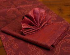 colorkitchen Tischdecke Pushpa mohn-wein 140x220 cm 100% Leinen